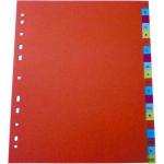 Index plastic color A4, numeric 1-12, OPTIMA