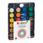 Acuarele 30 mm, paleta + pensula, 24 culori, MOROCOLOR Primo