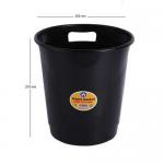 Cos plastic cu maner, 10 litri, negru, ARK