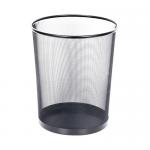 Cos plasa metalica | mesh, 18 litri, negru, FORNAX