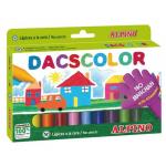 Creioane colorate cerate, 12 culori | cutie, ALPINO Dacs