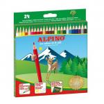 Creioane colorate, 1/1, 24 culori | cutie, ALPINO