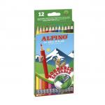 Creioane colorate cu radiera, 12 culori | cutie, ALPINO Erasable