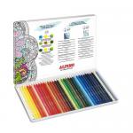 Creioane colorate acuarela, 1/1, 36 culori | cutie, ALPINO Aquarelle