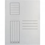 Dosar simplu, carton alb 250 gr/mp, 10 bucati | set