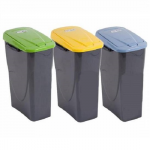 Cos plastic colectare selectiva deseuri, 25 litri, ECOBIN