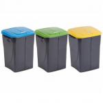 Cos plastic colectare selectiva deseuri, 45 litri, ECOBIN