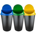 Cos plastic cu capac batant, 60 litri, ECOBIN