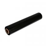 Folie stretch manuala, negru, 23 microni, 50 cm x 160 m