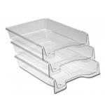 Tavita pentru documente, fumuriu | transparent cristal, ARK 350