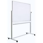 Tabla alba magnetica rotativa | whiteboard, 2 fete, rama aluminiu, 180x120 cm