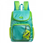 Rucsac scoala + portofel, verde, ZIP..IT Premium Wildlings