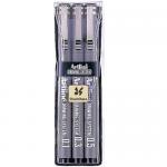 Set 3 markere pentru desen tehnic | proiectare, 0.1 | 0.3 | 0.5 mm, negru, ARTLINE
