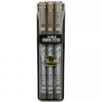 Set 3 markere pentru desen tehnic | proiectare, 0.2 | 0.4 | 0.8 mm, negru, ARTLINE