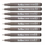 Marker pentru desen tehnic | proiectare, 0.3 mm, negru, ARTLINE