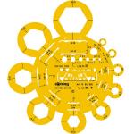 Sablon hexagoane | contur metric piulite M2-M24, ROTRING
