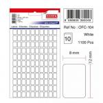 Etichete albe autoadezive, 110/A5, 8x12 mm, 1100 buc | set, TANEX