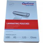 Folii pentru laminare, A5, 125 microni, 100 buc | set, OPTIMA