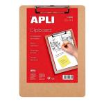Clipboard simplu A4, lemn, APLI