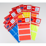 Etichete autoadezive, 14/A5, 19x40 mm, galben | portocaliu | rosu | verde, 70 buc | set, TANEX
