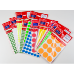 Etichete color autoadezive, diametru 13 mm, 350 buc | set, TANEX