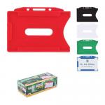 Buzunar orizontal PVC rigid, transparent mat, 93x70 mm, 50 buc | cutie, ARK