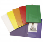 Mapa carton, A4, cu elastic, 400 gr/mp, galben | rosu | verde, FORNAX