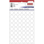 Etichete albe autoadezive, diametru 16 mm, 480 buc | set, TANEX