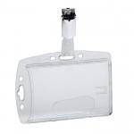 Buzunar PVC carduri, 85x54 mm, clips de prindere, 25 buc | cutie, DURABLE