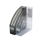 Suport vertical cataloage, plastic ABS, fumuriu | transparent, ARK