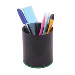 Suport cilindric articole birou, plastic ABS, negru