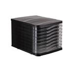Suport pentru documente, 8 sertare, negru, ARK