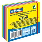 Cub notite autoadeziv, 50x50 mm, 6 culori neon, 250 file/buc, DONAU