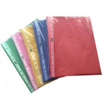 Folii protectie documente A4, color, 40 microni, 100 bucati   set, EXXO
