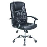 Scaun pentru birou, mecanism TILT, piele ecologica, negru, OFFICE PRODUCTS Cyprus