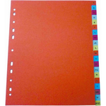 Index plastic color A4, alfabetic A-Z, OPTIMA