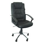 Scaun pentru birou, mecanism TILT, piele ecologica, negru, LGA