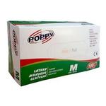 Manusi pudrate latex, unica folosinta, S | M | L, 100 buc | cut, Poppy