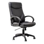Scaun pentru birou, mecanism TILT, piele ecologica, negru, Stilo Eco