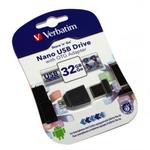 Stick USB 2.0 Drive + adaptor OTG, 32 GB, VERBATIM Store n Stay Nano