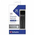 Memory stick USB-C USB 3.1, 32 GB, VERBATIM Keypad Secure Black