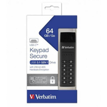 Memory stick USB-C USB 3.1, 64 GB, VERBATIM Keypad Secure Black