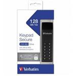 Memory stick USB-C USB 3.1, 128 GB, VERBATIM Keypad Secure Black