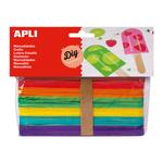 Betisoare colorate lemn, 40 buc | set, APLI