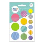 Set decoratiuni autoadezive, cerc | stea | triunghi, 195 bucati, STICK'N