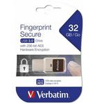 Memory stick USB 3.0, 32 GB, VERBATIM Fingerprint Secure
