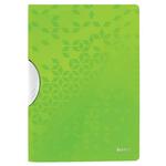 Dosar plastic cu clema pivotanta, A4, 30 coli, verde, LEITZ ColorClip