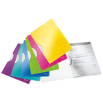 Dosar plastic cu clema pivotanta, A4, 30 coli, LEITZ Wow ColorClip