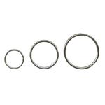 Inele metalice pentru chei, 33 mm, 10 buc | set, ALCO