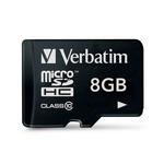 Micro SD Card 8 GB VERBATIM SDHC U1 Class 10